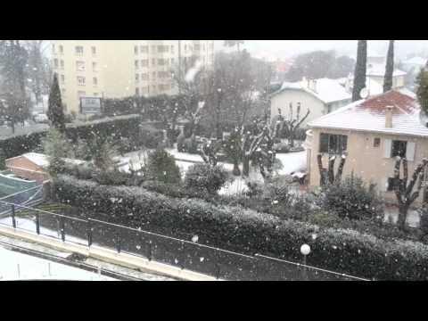 Neve em Marseille - France