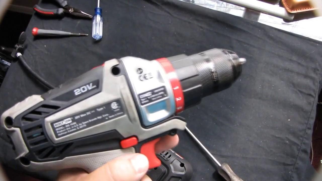 craftsman bolt on 20v drill repair