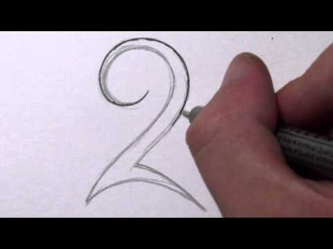 how-to-draw-a-simple-tribal-number-2