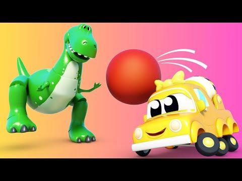 Camiones Bebés - Carros Bebes juegan con un dinosaurio! - Aprendiendo con caricaturas de camiones