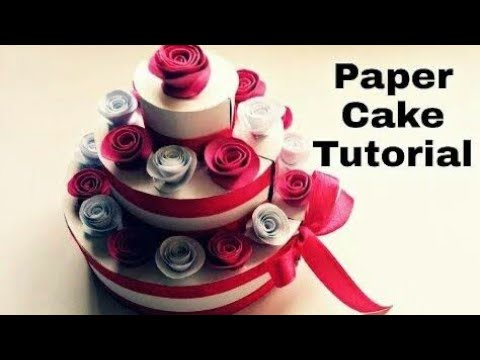 How to make a paper cake, paper cake craft