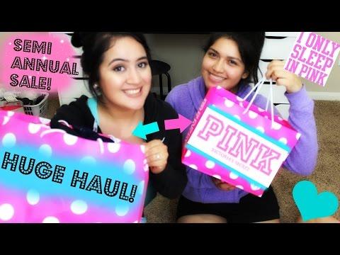 HUGE VS PINK SEMI ANNUAL SALE HAUL 2015!