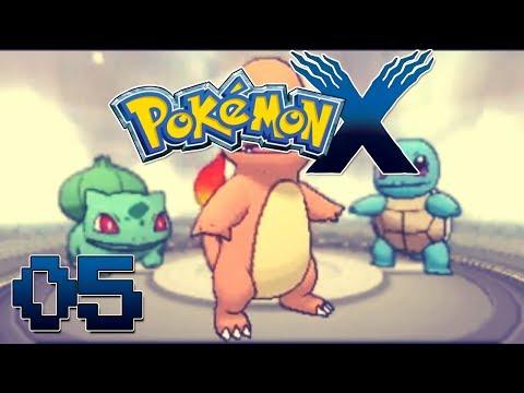 Let's Play Pokemon X Part 5  Kanto Starters & Scyamore Battle-  Gameplay Walkthrough