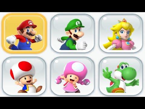 Super Mario Run - All Characters Unlocked + Gameplay Showcase