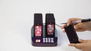 카페진동벨 카드형 무선 진동벨 편리한 식당 순번대기표기…