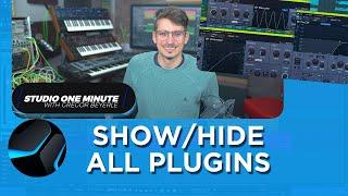 How to toggle multiple Plugin Windows #StudioOneMinute