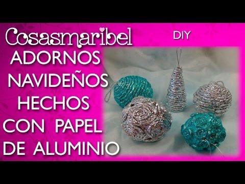 Crea tus propias esferas de navidad funnycat tv - Adornos de navidad con papel periodico ...