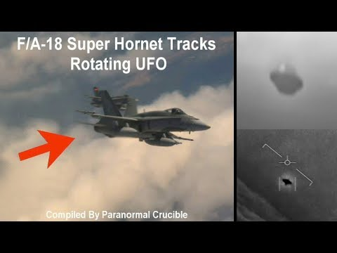 F/A-18 Super Hornet Tracks Rotating UFO