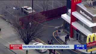 Man shot at Brooklyn McDonald`s, critically injured