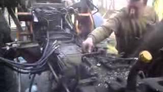 Rozbieranie kabiny ciągnika Renault 75.14