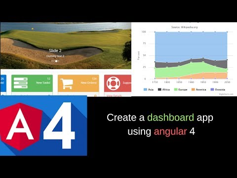 Tutorial -  Create a  dashboard app using angular 4