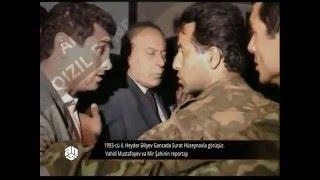 1993-cü il. Heydər Əliyev Sürət Hüseynovla görüşür.