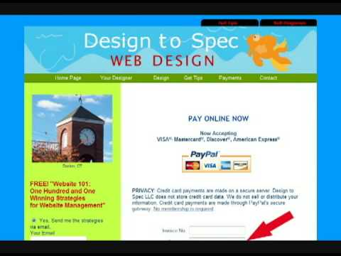 Pay for Website Design by Credit Card