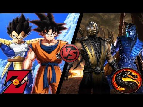MUGEN Battle #2 Goku and Vegeta (Choujin) VS Scorpion and Sub Zero (Super Dragon Ball Heroes Mugen)