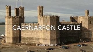 Caernarfon Castle & Town Walls, North Wales   Aerial Vision