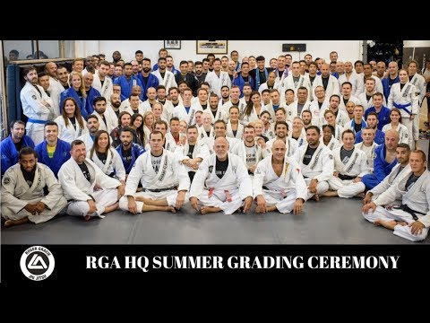 Summer Grading Ceremony at Roger Gracie Academy 2018 Blue to Brown Belt GJJ