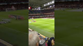 Welsh National Anthem at the Millennium Stadium (Wales v Spain 11.10.18)