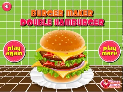 Мультик игра Готовим дабл гамбургер (Burger Maker Double Hamburger)