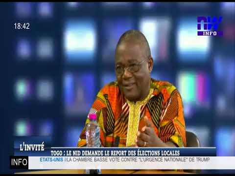 Togo : le Nid demande le report des élections locales (L'Invité 27 02 2019)