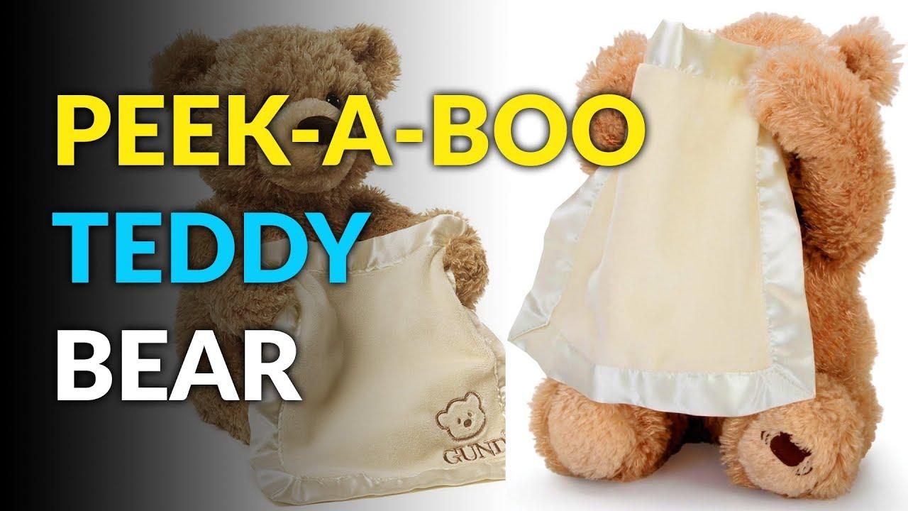 this teddy bear plays peek a boo youtube