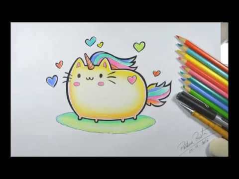 Como Desenhar Gato Kawaii Unigato Youtube
