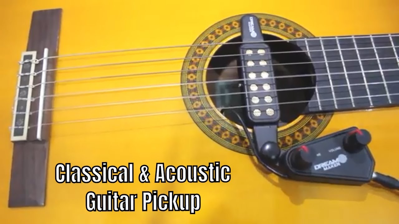 how to install a sound hole pickup in your acoustic or nylon strings guitar youtube. Black Bedroom Furniture Sets. Home Design Ideas