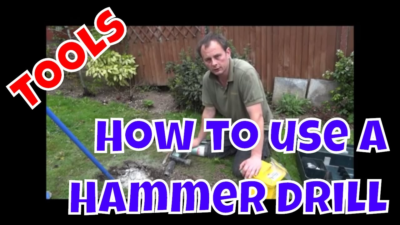 How to Use a Hammerdrill/ Kango/ Breaker for concrete