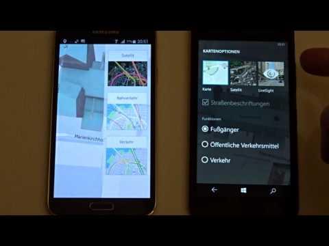 HERE Maps Auf Android Vs. Windows 10 Mobile - Karte Im Offline-Modus