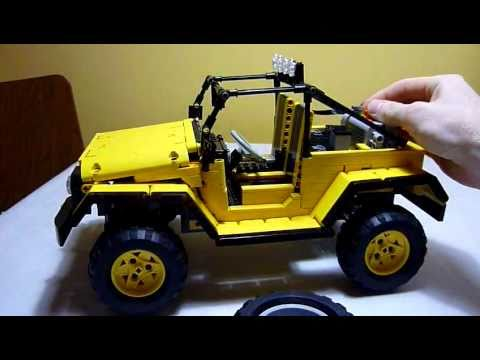 lego technic jeep wrangler rubicon in yellow youtube. Black Bedroom Furniture Sets. Home Design Ideas