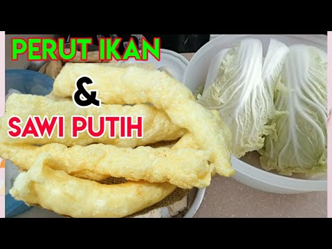 How To Cook Fish Maw & Chinese Cabbage | Masakan China