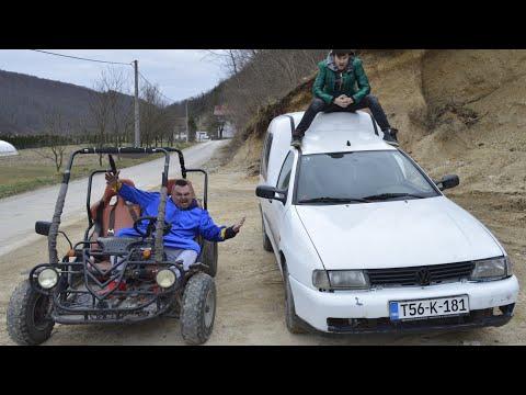 Bosanske SELJAČINE se trkaju Buggy VS Caddy
