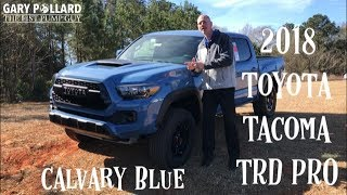 2018 Toyota Tacoma TRD Pro in Cavalry Blue with Gary Pollard The Fist Pump Guy at Bondy's Toyota
