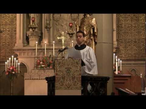 Psalm Cantor Jonathon Hampton, Grace Church in Newark