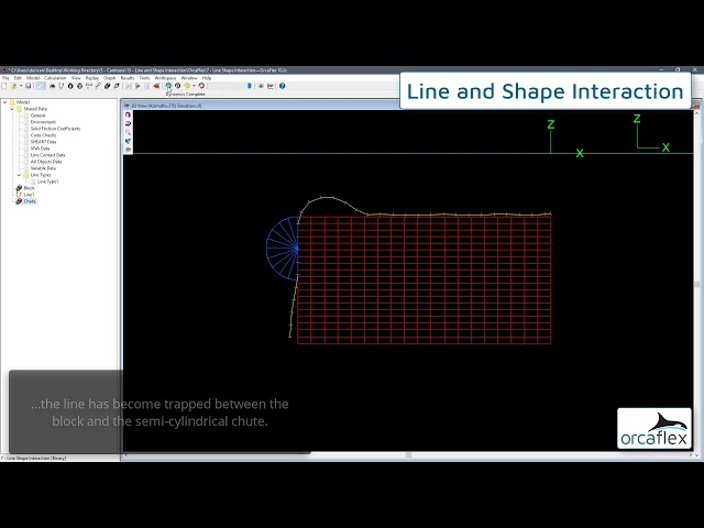 Line shape interaction