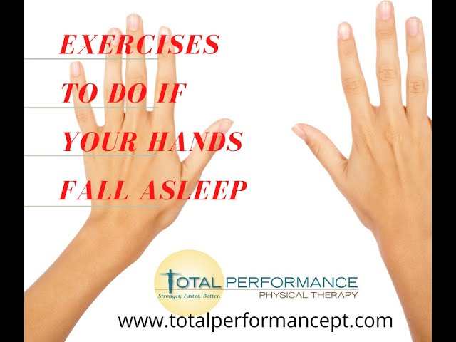Exercises to do if your hands fall asleep