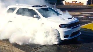 Dodge Durango SRT 2018 Spectacular BURNOUT + Driving Video! Fastest SUV 3 Row CARJAM TV HD