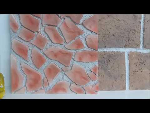 finta muratura in pietra e mattoncini in polistirolo per