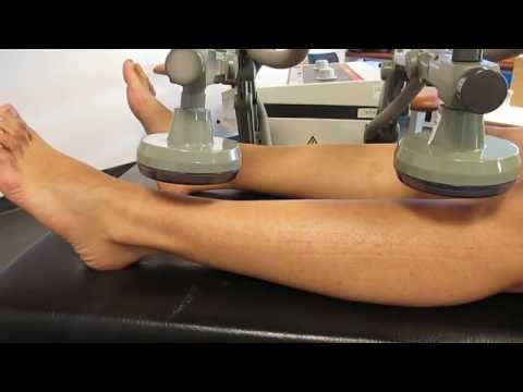Short Wave Therapy - application using Plate Electrodes, coplanar method