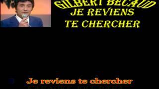 Gilbert Bécaud - Je reviens te chercher - Karaoké Joli_Papa
