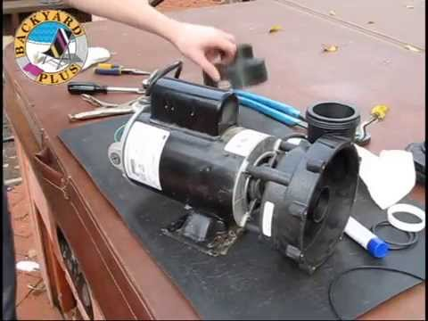 Wavemaster Pump Repair On A Hot Spring Spa