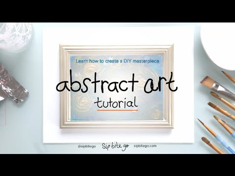 Abstract Art DIY Painting Tutorial with Acrylic Paint easy how to guide