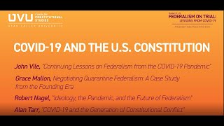 COVID-19 and the US Constitution