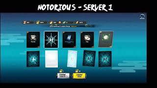 Naruto Online - Notorious Server 1 - 1730 Seal Scrolls | Kage Treasure | Five Kage Treasure