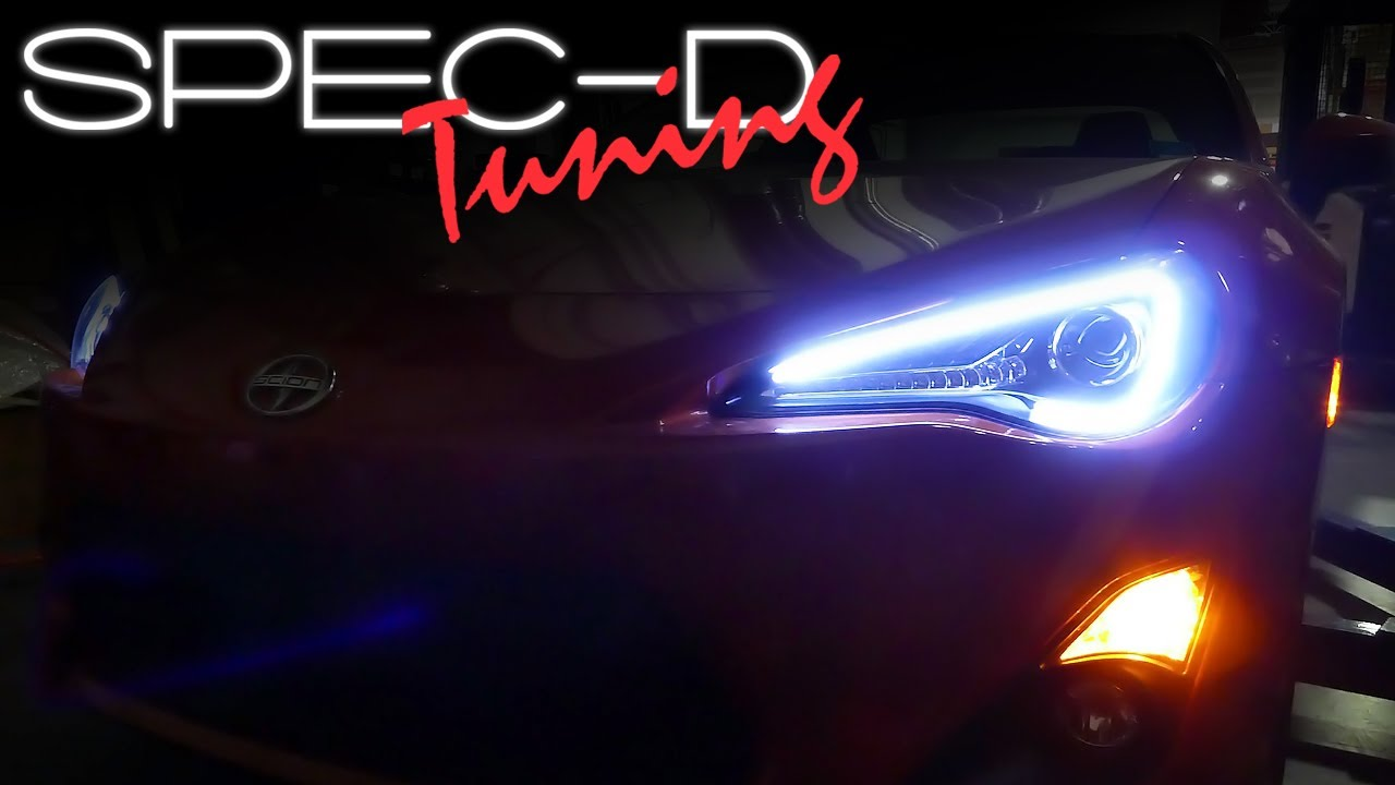 specdtuning installation video: 2013 scion fr-s led projector headlights -  youtube