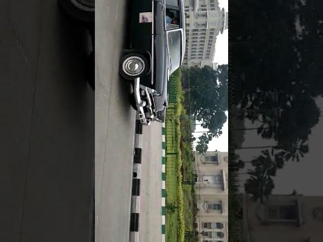 Vintage cars exhibited at Vidhan Soudha, Bangalore