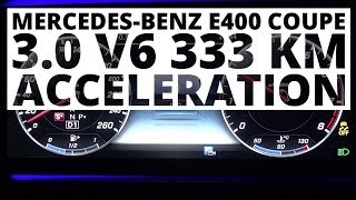 Mercedes-Benz E400 Coupe 3.0 V6 333 KM (AT) - acceleration 0-100 km/h