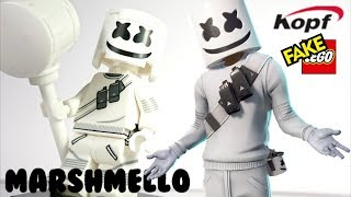 Lego DJ Marshmello pour Fortnite Skin Battle Mode Unofficial Custom Minifigure