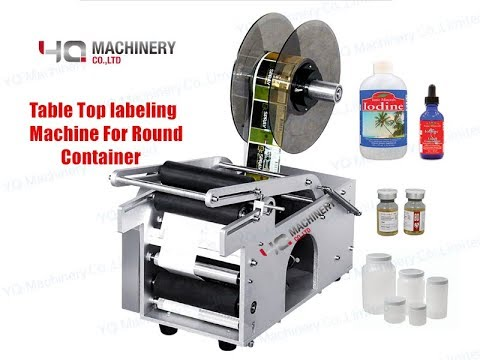 Manual Round Bottle Label Paste Labeling Machine Labeler 20-40 times//min NEW