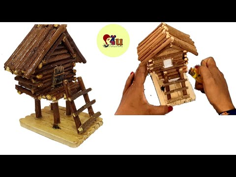 How to Make Wooden Fairy House \ Mini Wood House\DIY Wooden Fairy House