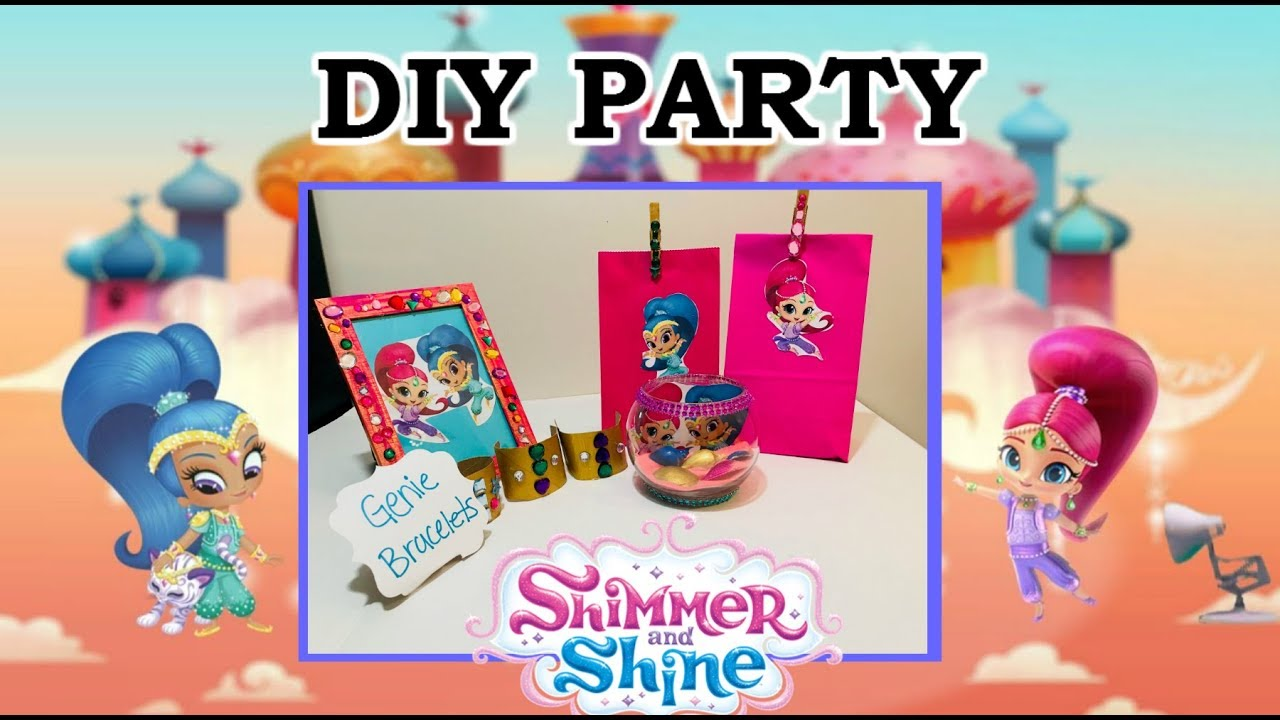 Diy Shimmer And Shine Party Shimmerandshineparty Youtube